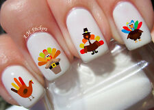 Turkey Thanksgiving Nail Art Stickers Transfers Decals Set of 38