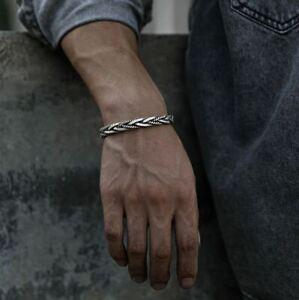 Armspange Herren Unisex Sterling Silber 925 Armband Armreif Dehnbar Flexibel