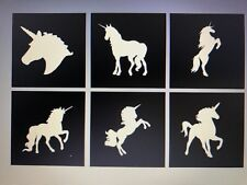 X6 Unicorn Stencil Glass Craft Etched Vinyl Sticker Silhouette Glitter Tattoo
