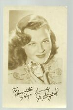 Ames IOWA RPc1930s ADVERTISING Jo Stafford Singer CHESTERFIELD CIGARETTES Signed