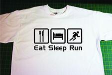Eat, Sleep, Run T-Shirt. In White. Size Medium. Running, Triathlon, Marathon