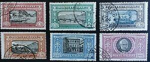 ITALY 1923 MANZONI set complete (Sc 165-170) USED high. C.V.            #126