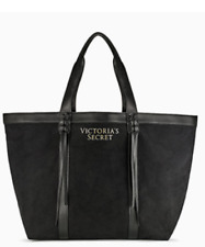 Victoria's Secret Limited Edition Black Fringe Tote Bag NWT