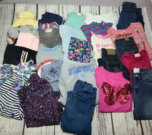 Huge 25 Piece Lot Of Girls Clothes Outfits Size 10/12  VIGOSS JUSTICE ADIDAS ++