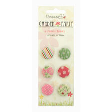 PACK  GARDEN PARTY BRADS EMBELLISHMENTS FOR CARDS OR CRAFTS