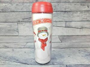 "St. Nicholas Square ""Warm Wishes"" 16 oz Thermal Mug Christmas"