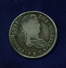 MEXICO WAR OF INDEPENDENCE ZACATECAS 1821-ZsRG  8 REALES SILVER COIN, F/VF