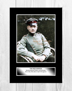 The Red Baron 2 Manfred von Richtofen A4 picture poster with choice of frame