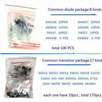 1390PCS Electronic Component Set LED Diode Transistor Capacitor Resistance Ki