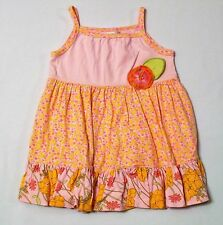 Baby Lulu Pink Floral Tiered Ruffled Twirl Swing Sun Dress, 4T