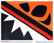 ALEXANDER CALDER - Calder at Pace/Columbus Ohio 1971 - Farblithografie signiert