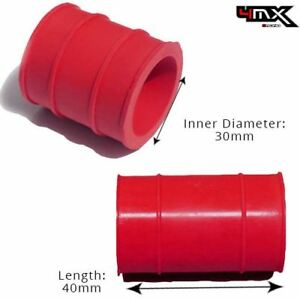 Exhaust Rubber Seal Red 30mm fits Honda Motorcycles