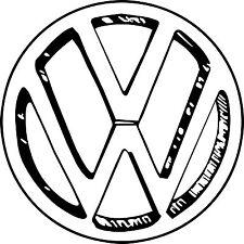 "Volkswagen VW VEE DUB 17"" logo Decal Graphic X2 Transporter T5 T4 Camper"
