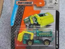 Matchbox 2014 #098/120 POUBELLE GULPER recycleur vert MBXAdventure Nouveau Fonte