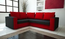 """Corner Sofa Bed """"LONDON"""". SPRUNG MATTRESS, EXTRA STORAGE AND SMALL PILLOWS FREE"""