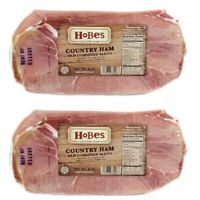Hobe's Country Ham Old Fashioned Salt and Sugar Cured Country Ham Slices 2-8 Oz
