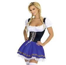 Oktoberfest Beer Wench Costume German Bavarian Dirndl Trachten Fancy Dress