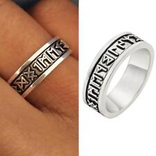 Fashion Men Viking Rings Custom Rune Letter Ring Wedding Norse Vintage Jewelry