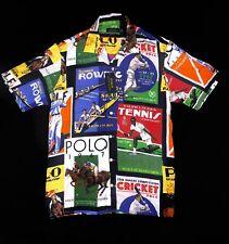 Polo Ralph Lauren Rowing GOLF Tennis Cricket Collage Shirt XXL 2XL Stadium