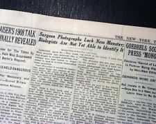 Loch Ness Monster Surgeon's Photo Nessie Scotland Lake 1St Report 1934 Newspaper