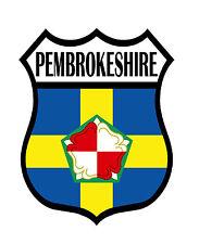 1 X bandera del condado de Pembrokeshire Estática Adhesivo Calcomanía Para Coches Motos Windows