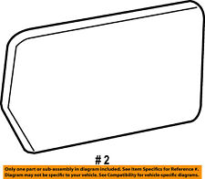 FORD OEM Outside Mirrors-Front Door-Mirror Glass Left 7L3Z17K707L