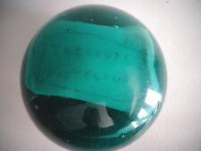 Antique Millville South Jersey Art Glass Blue Glass Paperweight Name Plaque Dump