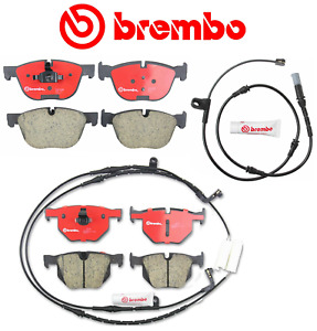 Front Brake Pads & Rear Brake Pads Pad Set OEM Brembo Ceramic + Sensor BMW X5 X6