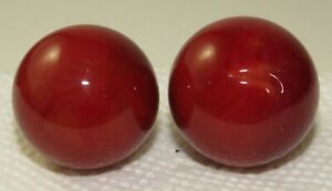 """2 Vintage M F Christensen Red Brick  1"""" and 14/16 shooters Collectors Toy Marble"""