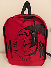 BNWT GENUINE DIESEL ONLY THE BRAVE BACKPACK red