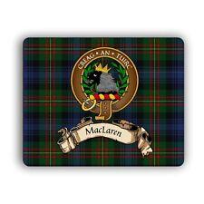 MacLaren Scottish Clan Tartan Crest Gaelic Motto Computer Mouse Mat