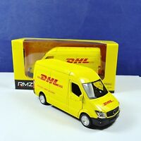 New 1:36 Commerical Vehicle Yellow Diecast Model For Express DHL Collection Gift