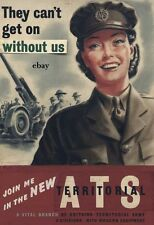 WW2 JOIN THE ATS 4 AUXILIARY TERRITORIAL SERVICE WOMEN WRAC POSTER NEW A4 PRINT
