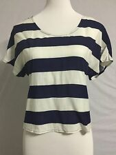 NEW Urban Outfitter Pins And Needles Striped Sailor Style Top Tee Size M 6-8
