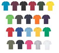Mens 5 Pack Fruit of the Loom Original Cotton V Neck T Shirt Short Sleeves Tee