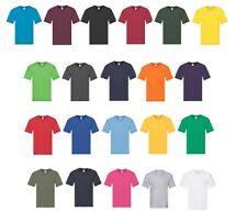 Men's 5-Pack Fruit of the Loom Original Cotton V Neck T-Shirt Short Sleeves Tee