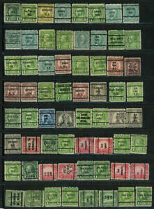 Large lot 64 precanceled U S Stamps as shown (7a)