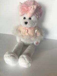 2000 Rare Musical Chantilly Lane Breast Cancer Teddy Bear Sings I Hope You Dance