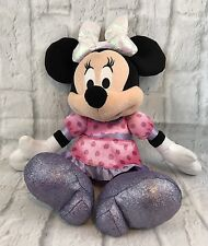Disney Minnie Mouse Tickled Pink Talking Plush Bow Lights Up Gift Collectible