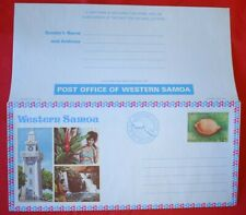 MayfairStamps Western Samoa Children's Cowry Seashell Mint Postal Stationery Aer