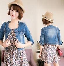 New Women Denim Jackets Outwear Jeans Coat Classical Jackets Size S-XXL feRE