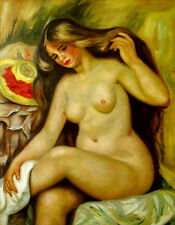 """Auguste_Renoir  Replica Abstract Oil Painting - Bather - size 28""""x36"""""""