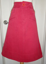 Marc Jacobs Red Corduroy A-line Skirt W/ Side Pockets~Sz 6~ Stylish & Unique~