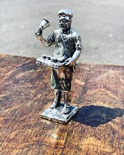More details for silver plate figure. pie man, highly detailed figure