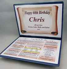 SPECIAL 60TH BIRTHDAY GIFT -THE YEAR YOU WERE BORN - PERSONALISED FOLDER
