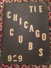 Chicago Cubs 1929 SCRAPBOOK amazing LOOK!