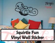 Pokemon Squirtle Fun Custom Wall Vinyl Sticker
