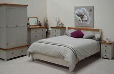 Grey Painted Oak 5ft Kingsize Double Bed / Bed frame / Brand new Swainswick