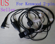 Throat Mic Earpiece Headset Headphone PTT Baofeng UV5R Kenwood 2-pin Type