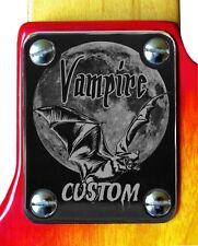 Neck Plate Neckplate Chrome Fender Strat Tele P and J Bass Guitar Vampire Custom